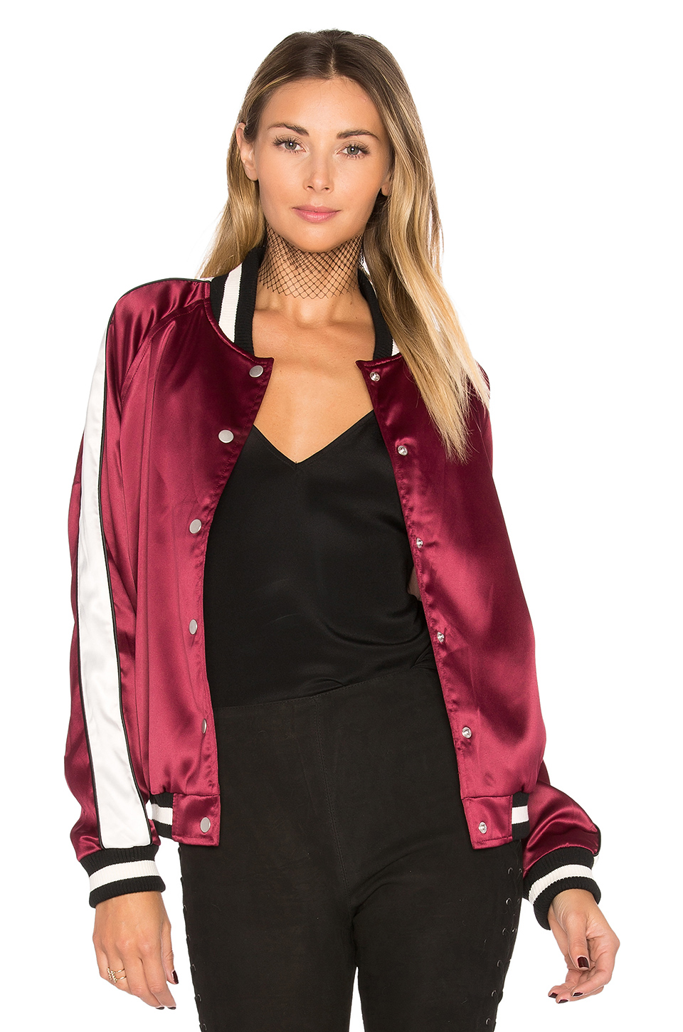 Lovers + Friends x The Nomad Bomber in Maroon