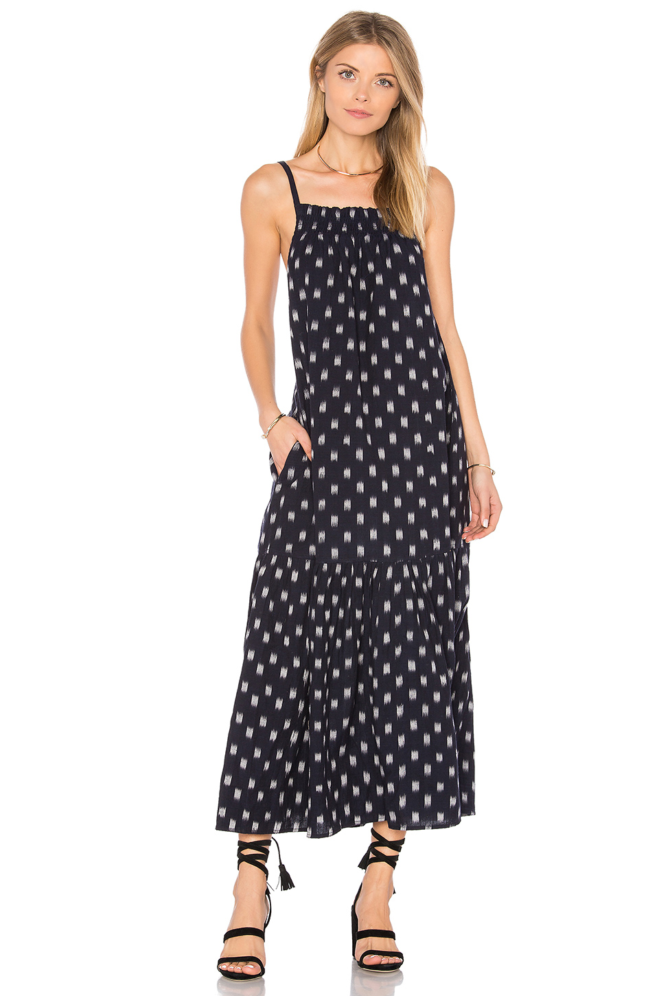 Current/Elliott The Holly Dress in Dotted Ikat