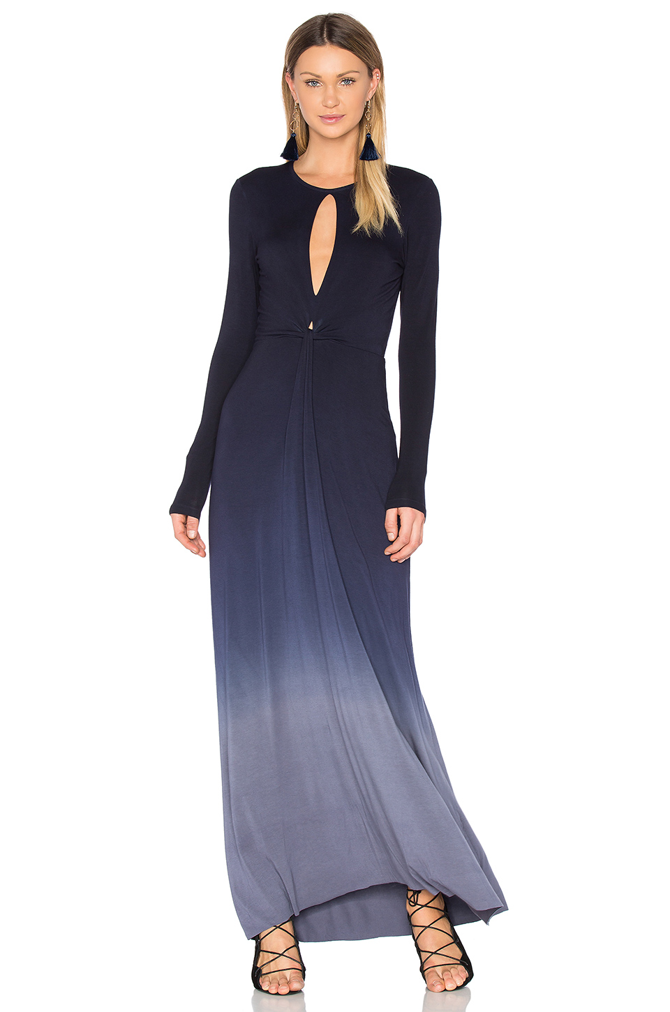 Young, Fabulous & Broke Mariel Dress in Navy Slate Ombre