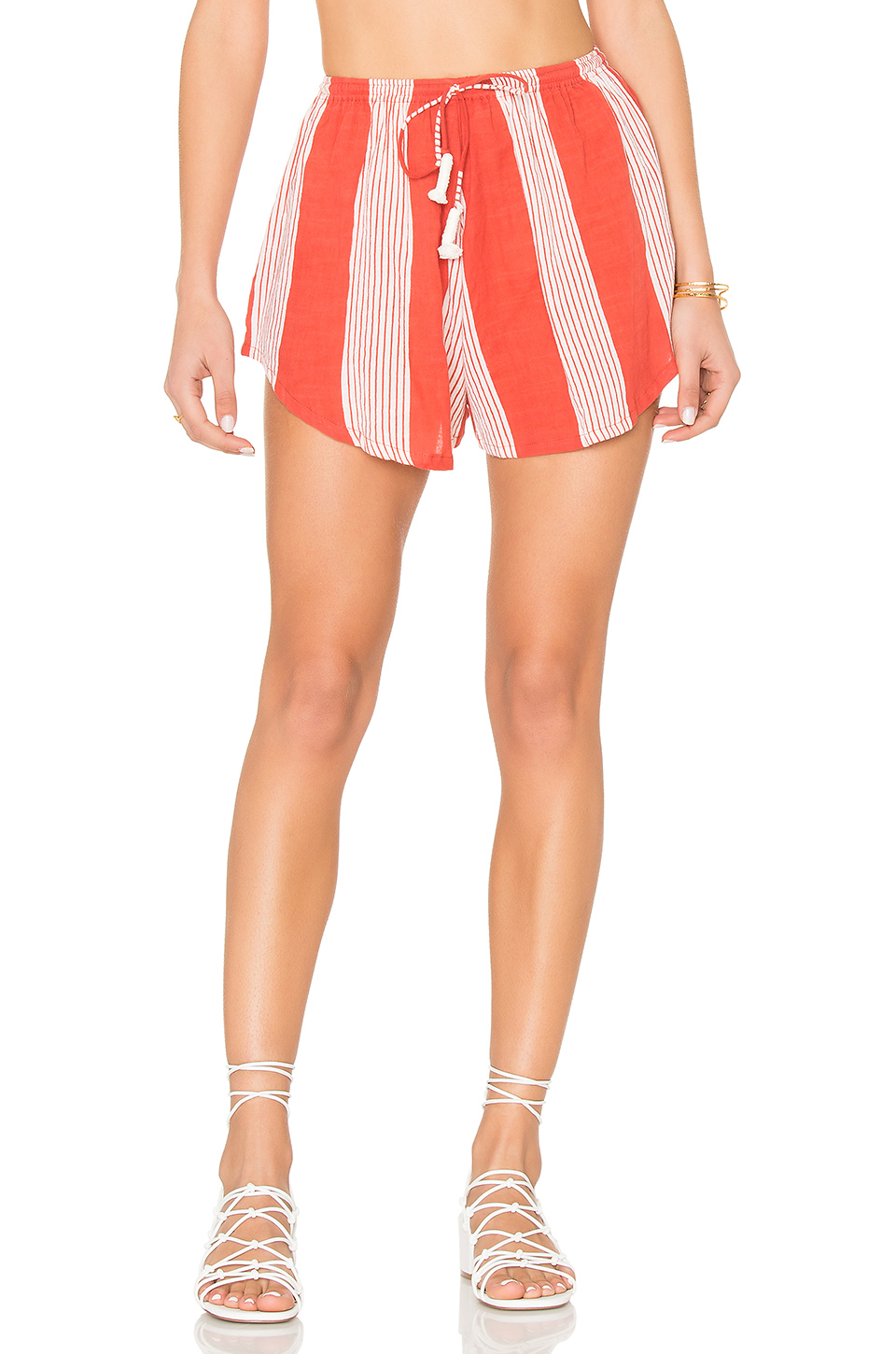 FAITHFULL THE BRAND Girona Short in Picnic Stripe Print
