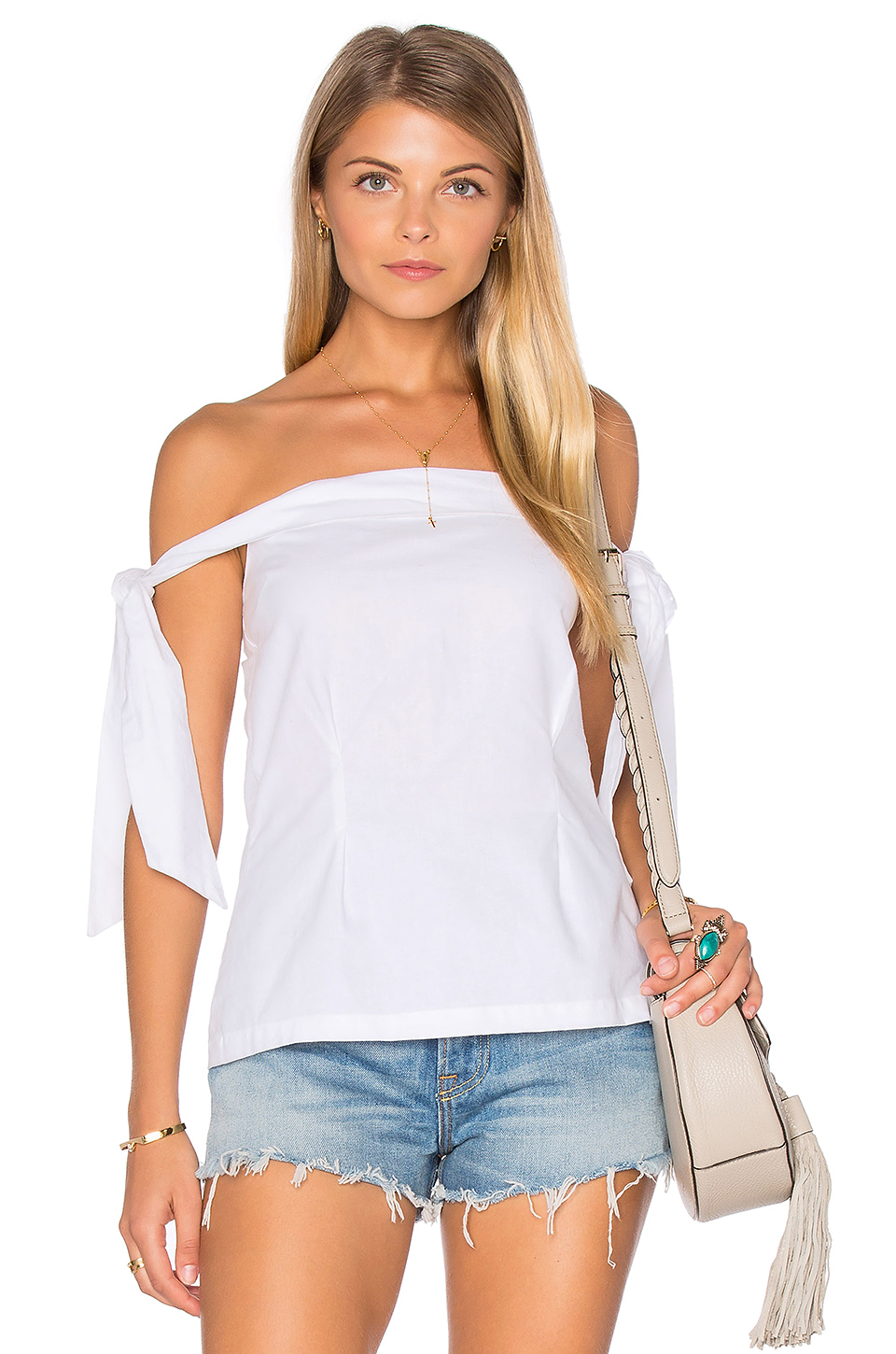 MLM Label New York Shoulder Top in White