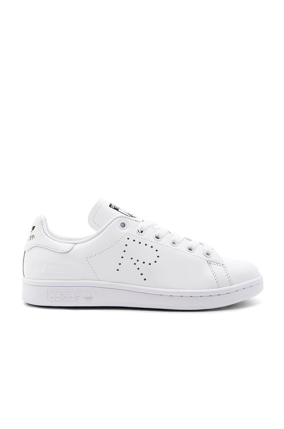 adidas by Raf Simons RS Stan Smith Lace Up Sneaker in White & Black