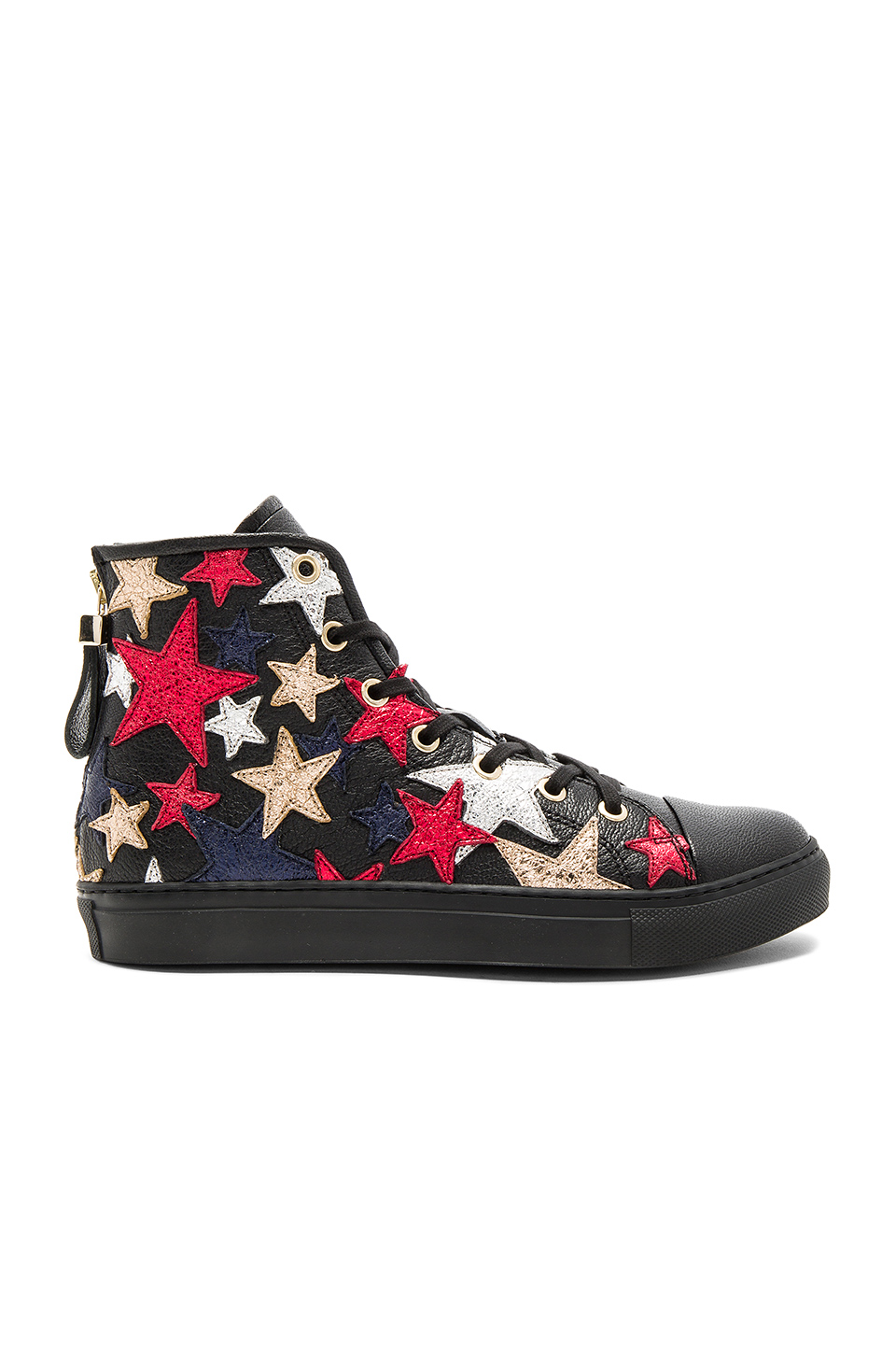 Hilfiger Collection Rock N Roll High Sneaker in Jet Black & Multi