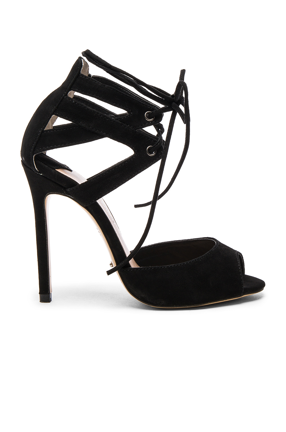 Tony Bianco Kayes Heel in Black Kid Suede