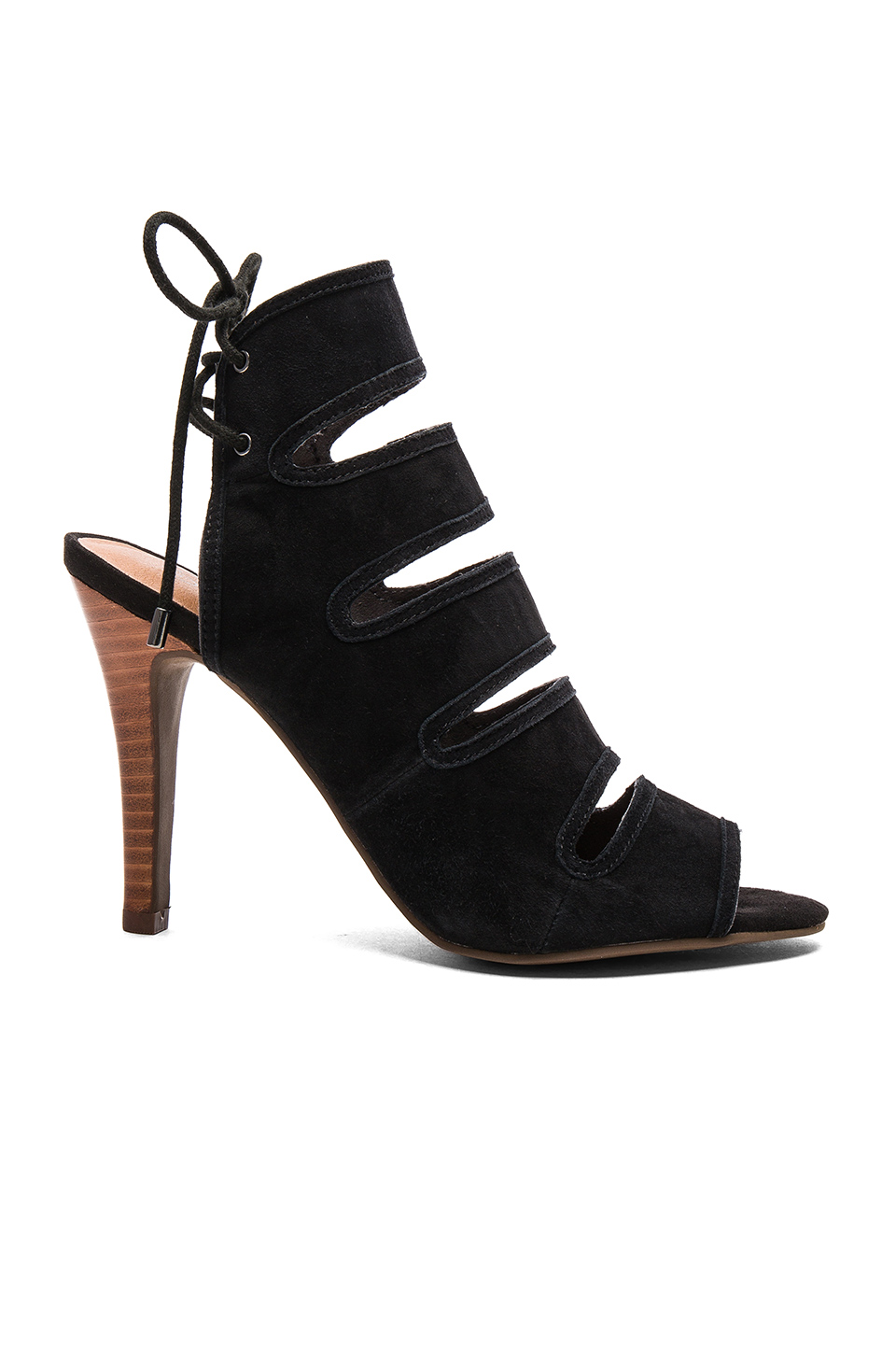 Seychelles Play Along Heel in Black Suede