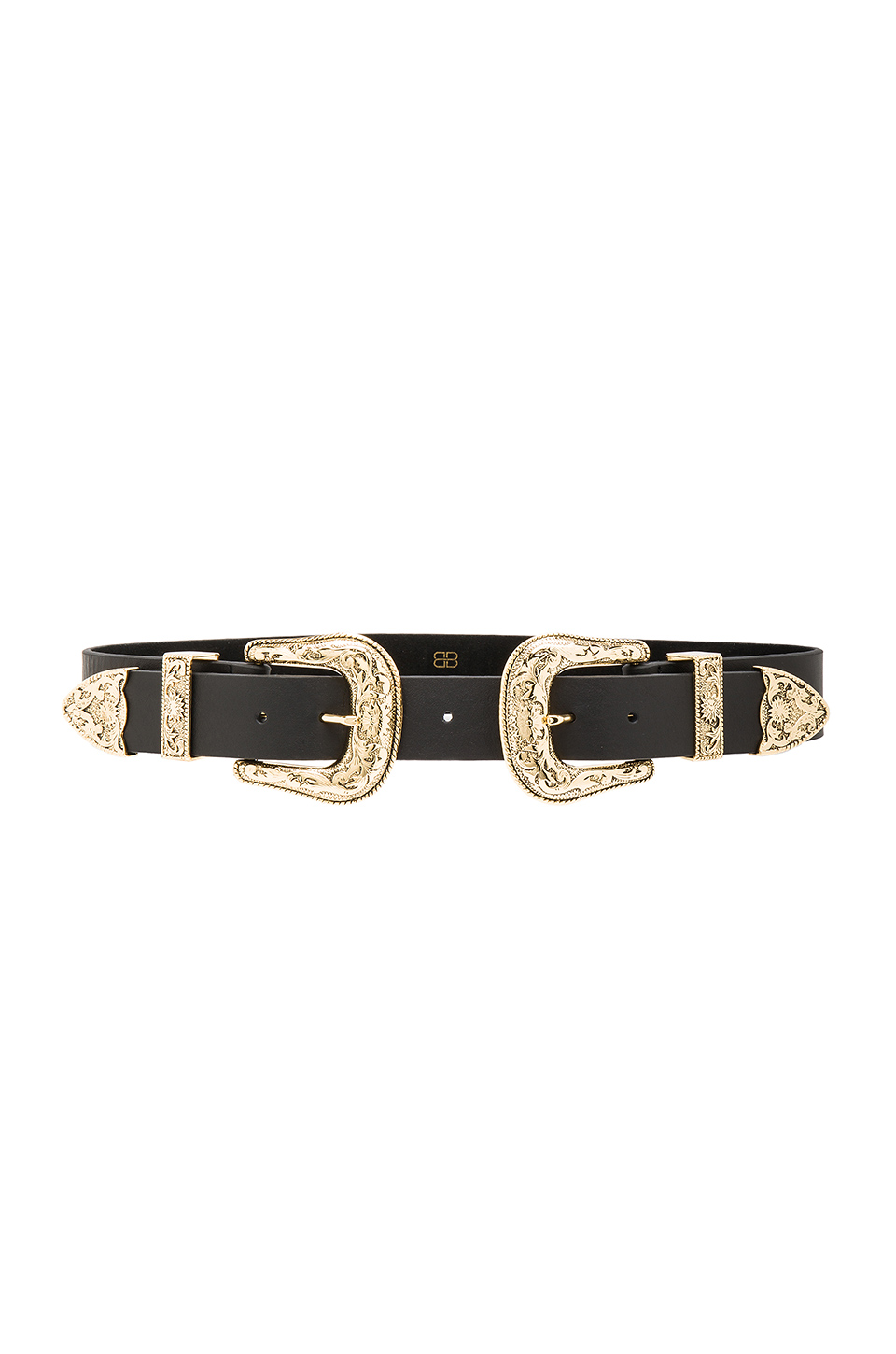 B-Low the Belt Bri Bri Waist Belt in Black & Gold