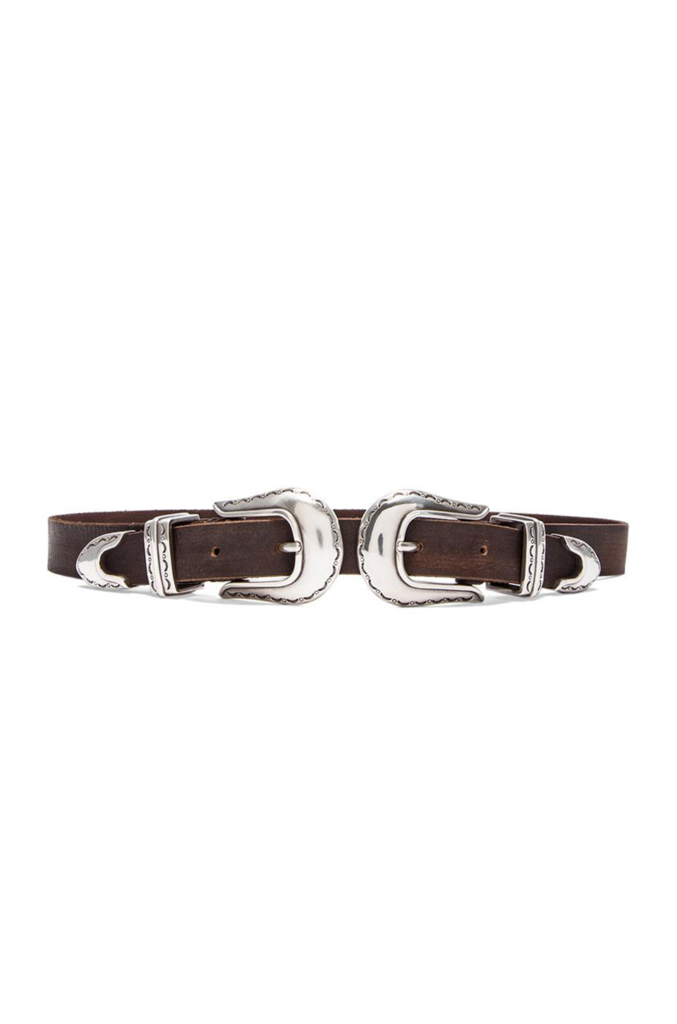 Stillwater The Double Buckle Belt in Black