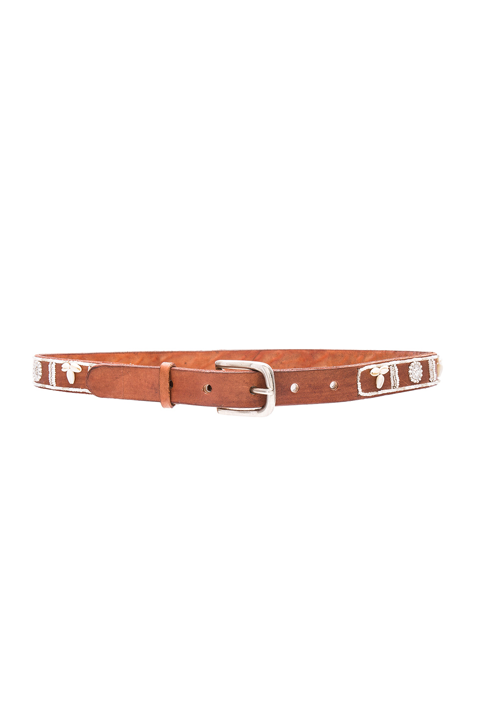 ASPIGA Shell Belt in White