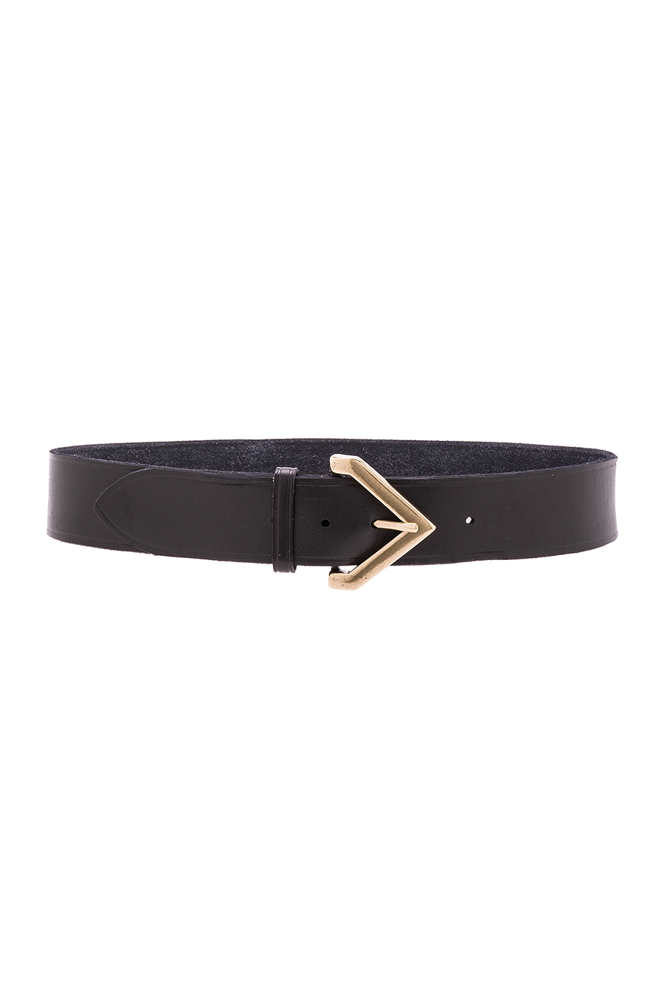 Linea Pelle Triangular Buckle Hip Belt in Black