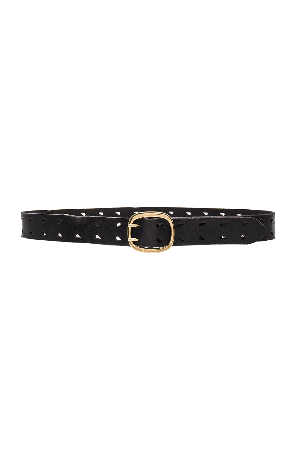 Linea Pelle Double Prong Basic Hip Belt in Black