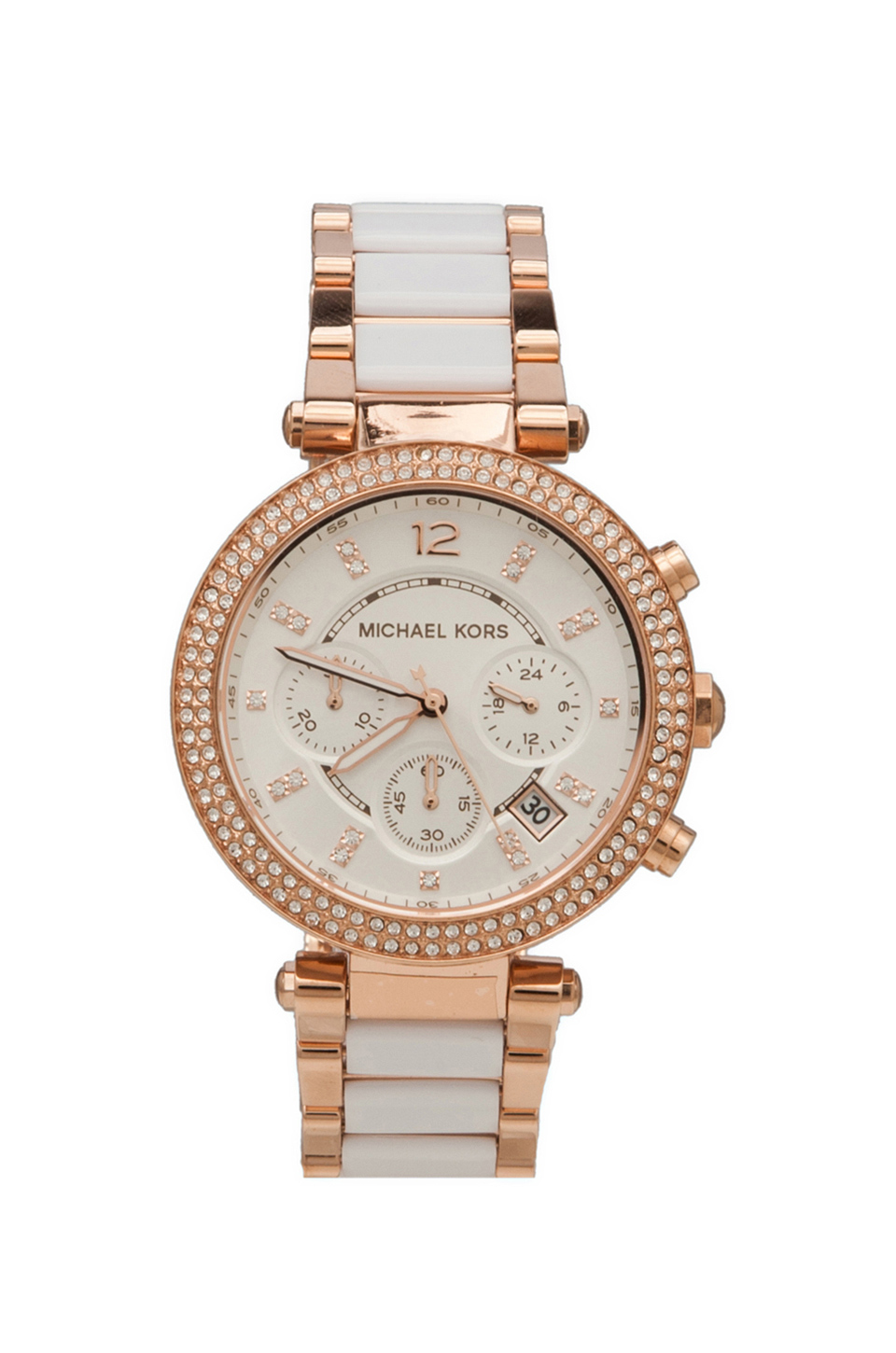 Michael Kors Parker Watch in Rosegold & White