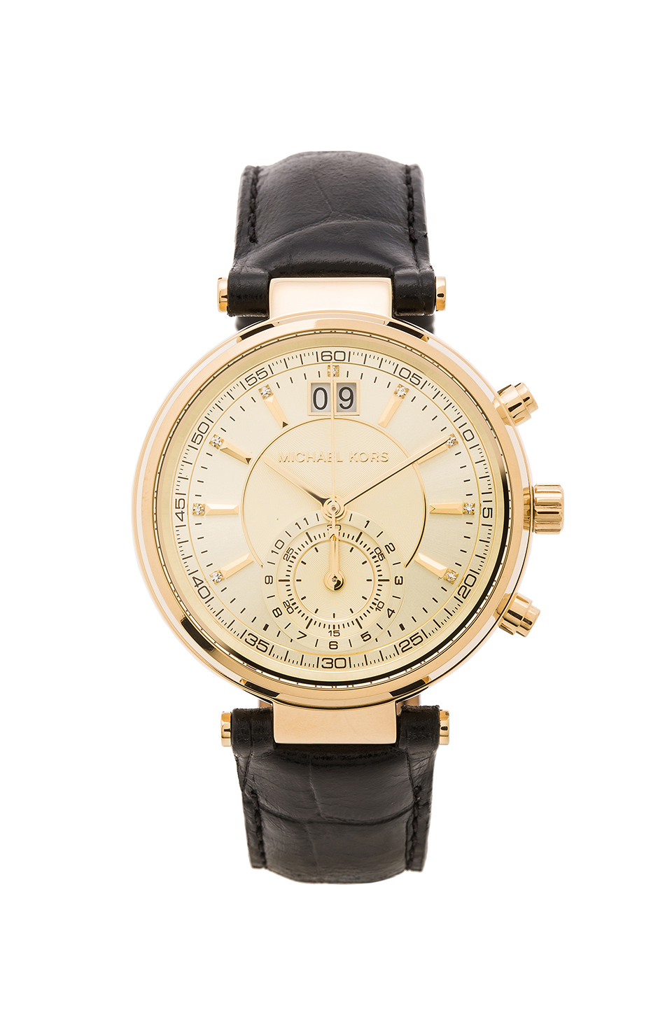 Michael Kors Sawyer Watch in Gold & Black